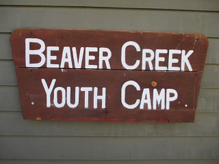 Beaver Creek Youth Camp Sign